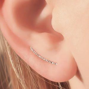 Tiny textured ear pins